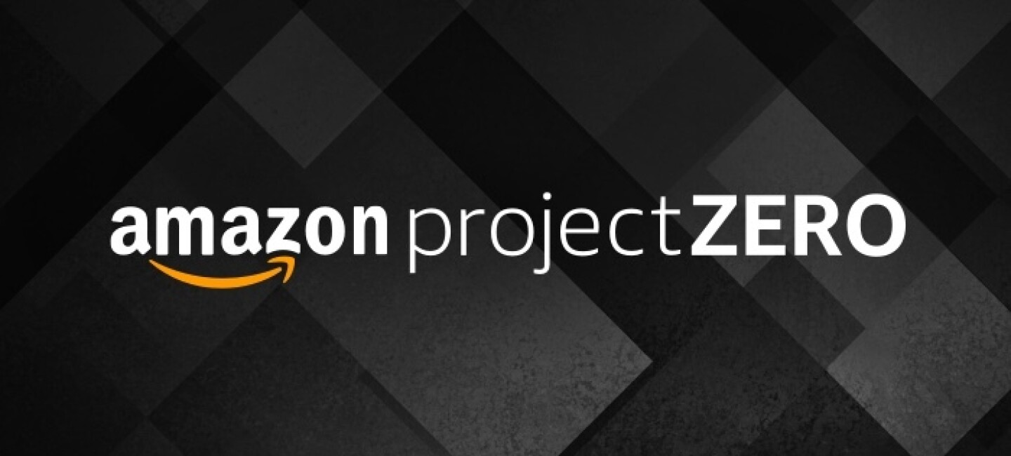An Amazon Project Zero logo on a black and gray background