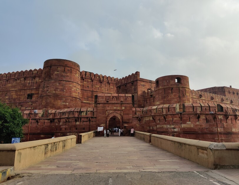 The historic Agra Fort