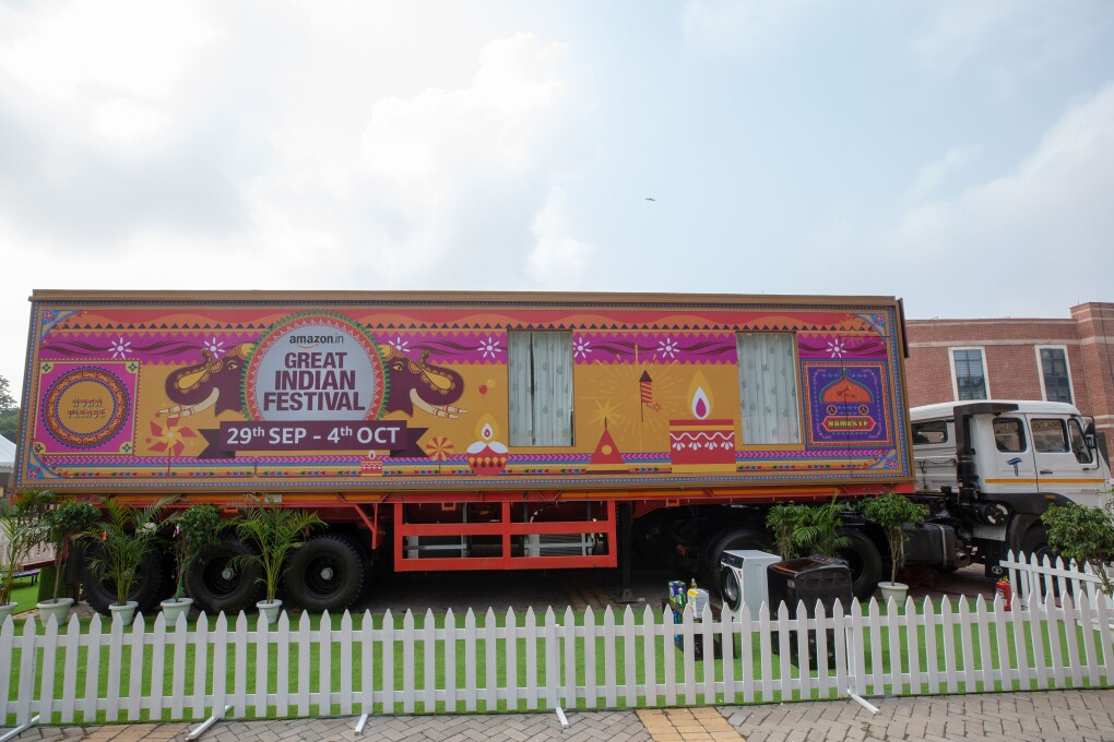 Amazon Festive Home on Wheels
