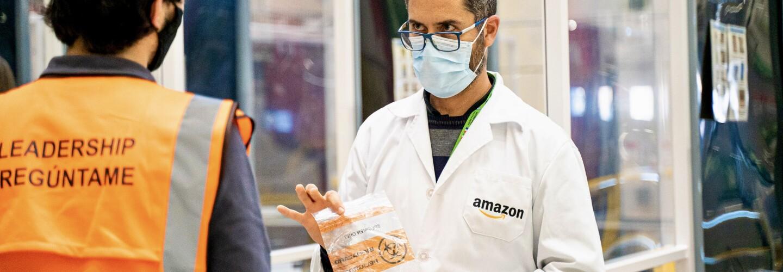Amazon Mitarbeiter erhält PCR Test