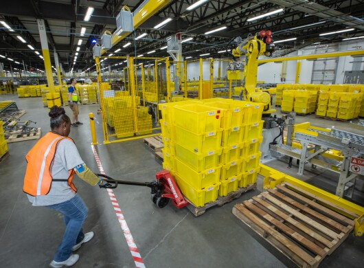 Employee at the Fall River fulfillment center