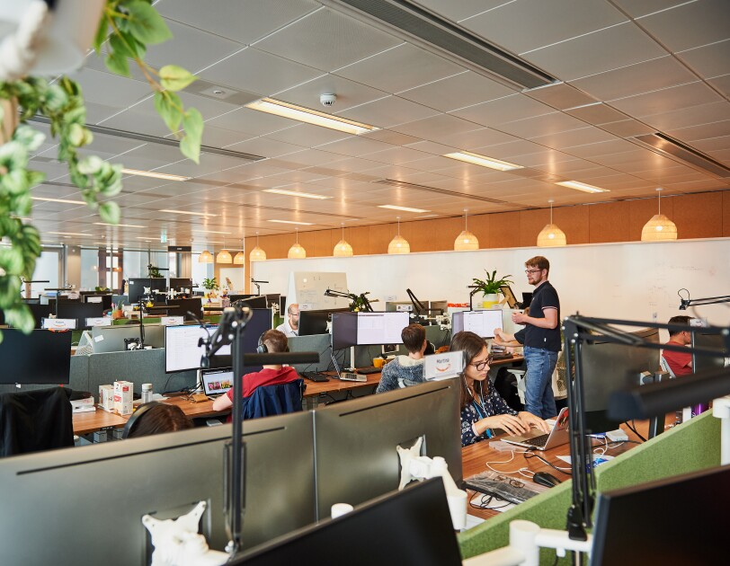 Inside view of Amazon's Development Centre Scotland (ADCS)