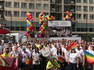 Amazon employees at London Pride