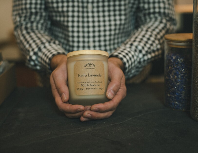 Belle Lavande, one of Twoodle Co's natural candles