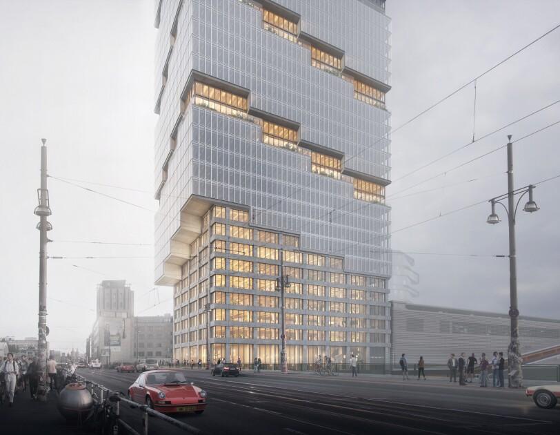 Neues Amazon Gebäude an der Haltestelle Warschauer Straße
