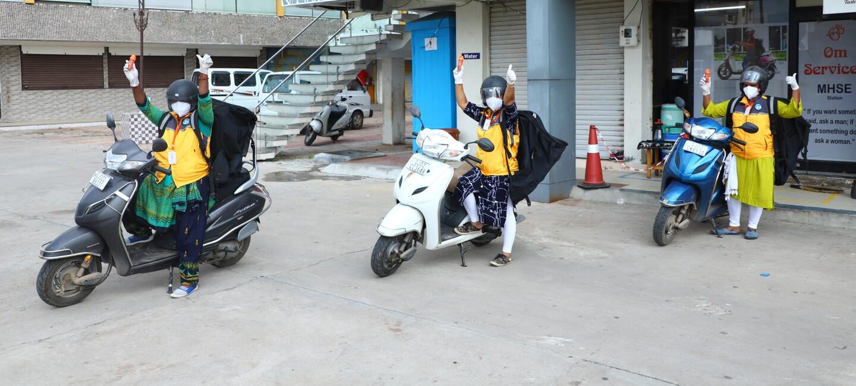 Guj women delivery station Amazon India