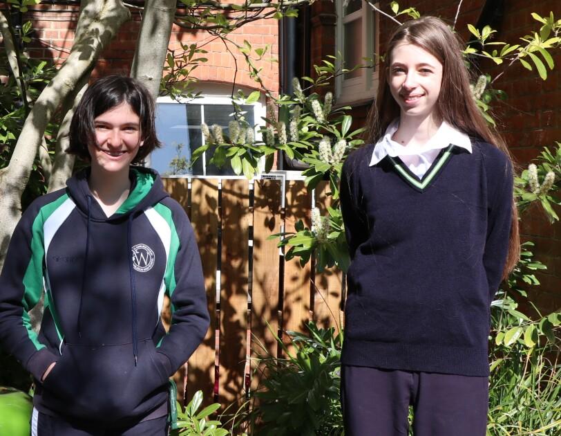 TEAM PHOTO - Bioclear (Wimbledon High School) L-R Elspie Macpherson, Lara Kerr