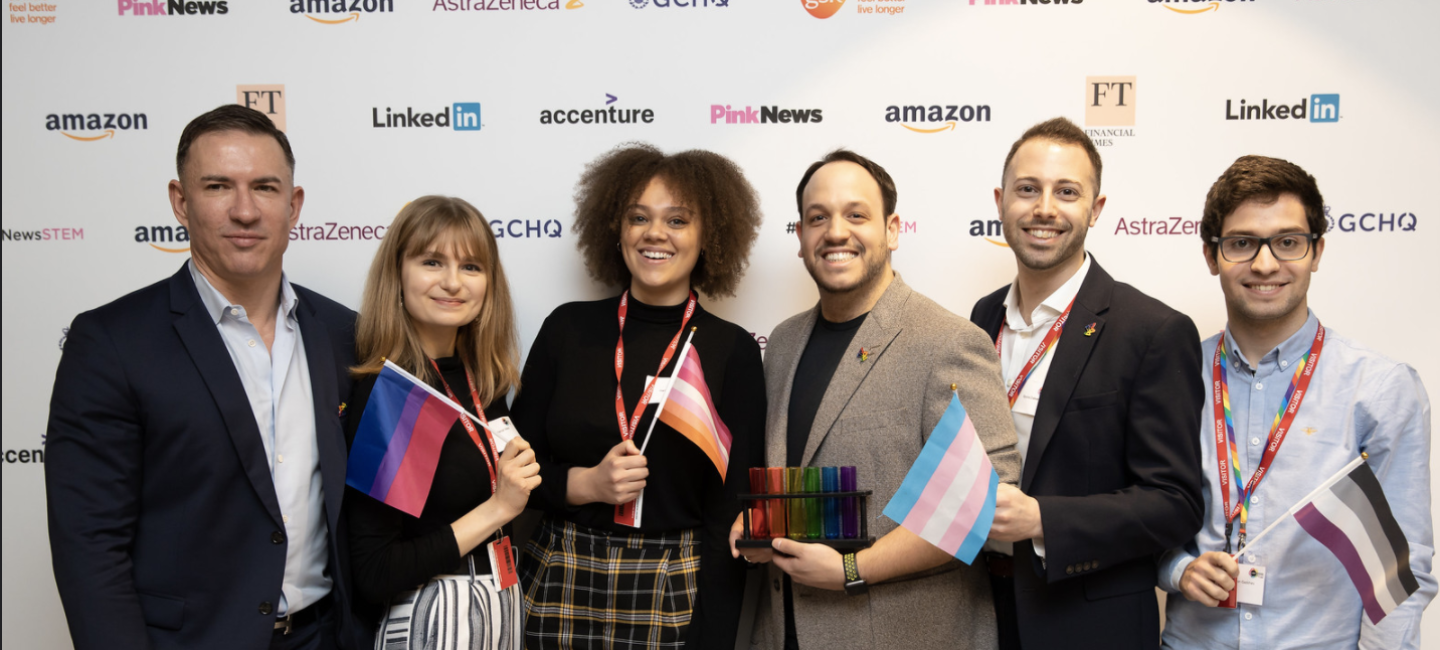 Amazon employees at an lgbt event