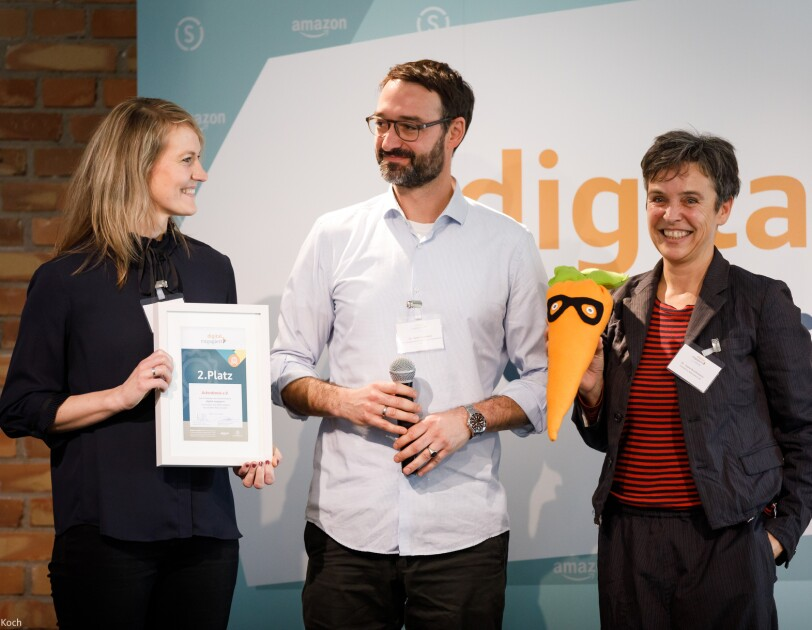digital.engagiert Preisverleihung: Das Bildungprogramm GemüseAckerdemie des Vereins Ackerdemia erhält den 2. Platz.