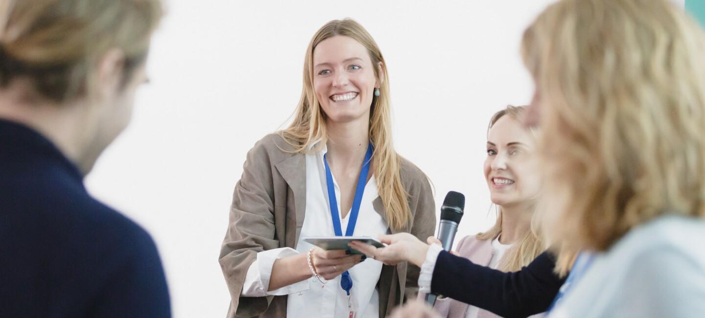 Andra Gallhöfer beim Abschlussevent von Unternehmerinnen der Zukunft.