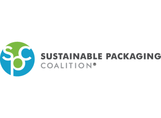 Logo of the Sustainable Packaging Coalition, an Amazon Sustainability partner
