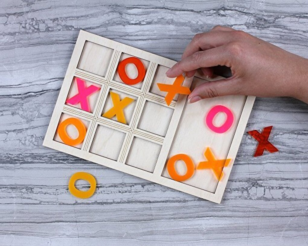 Bright Beam citrus tabletop tic-tac-toe game