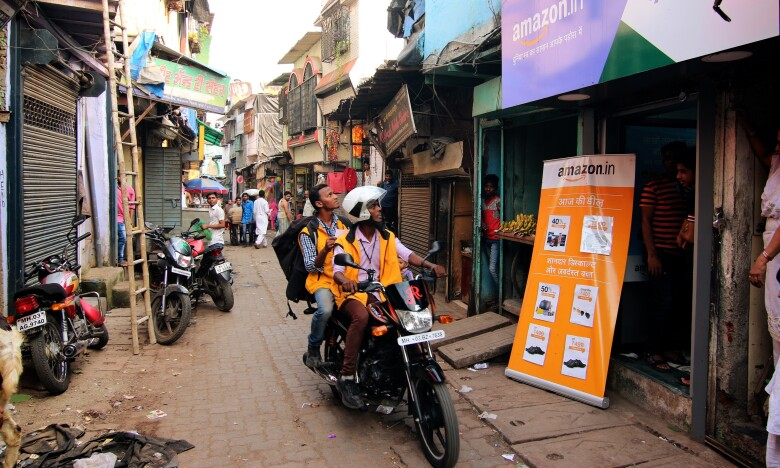 An Udaan point in the heart of a tier 2 town in India