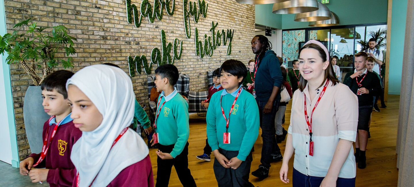 Children at Amazon's Digital Careers Day for young people in STEM