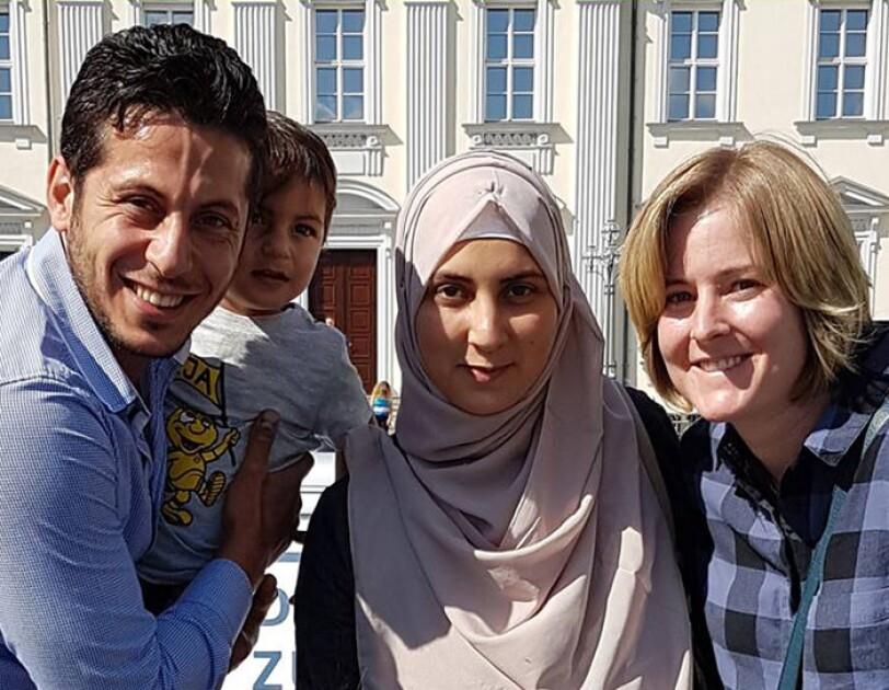 Anne und Moustafa mit seiner Familie
