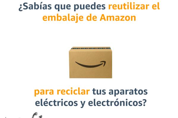 Reutiliza el embalaje de Amazon para reciclar tus aparatos eléctricos y electrónicos