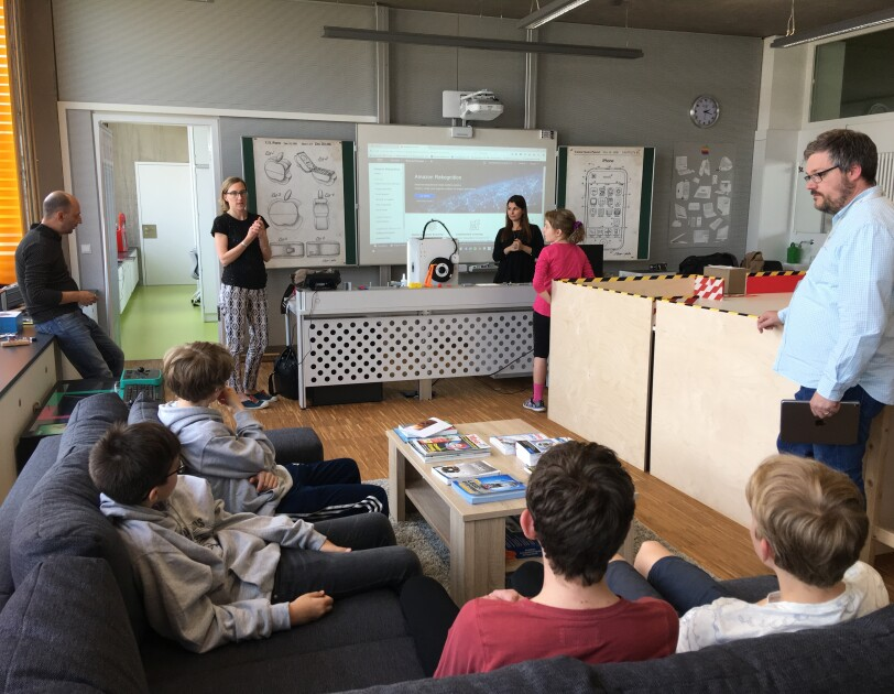 Amazonians hold `Exploratory Lab` with the students of  Lënster Lycée Luxembourg