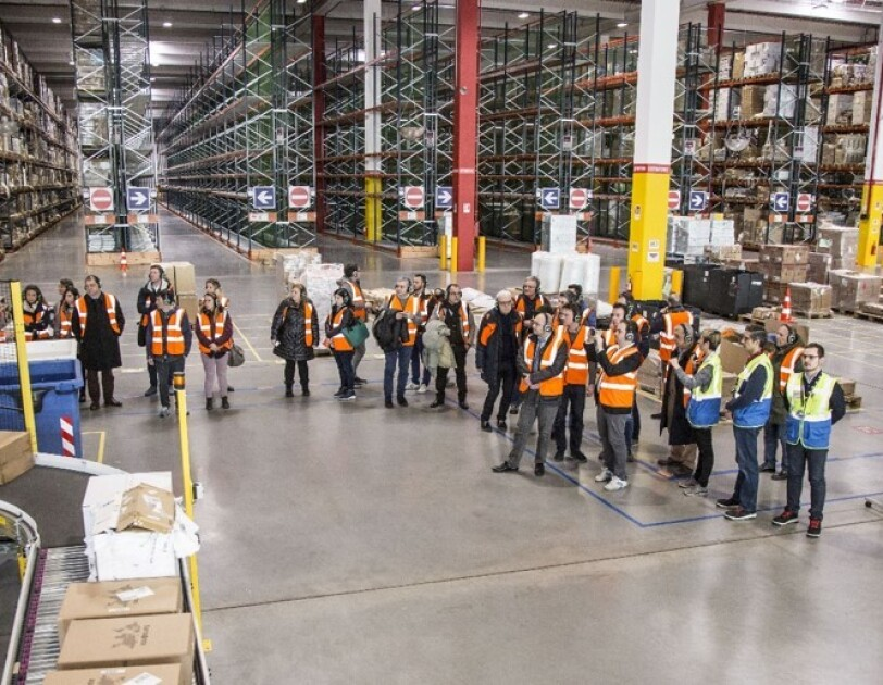 Amazon Academy Italy fulfillment center public visit
