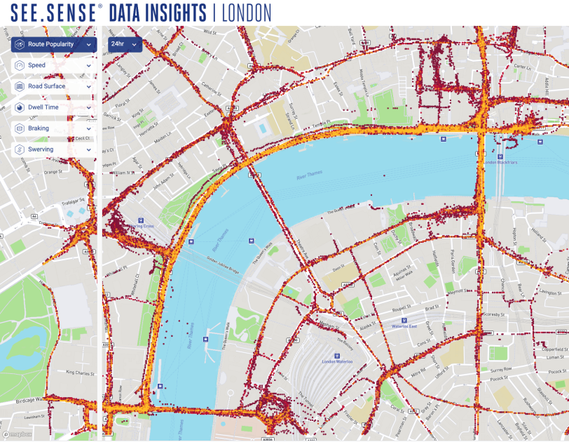 Map of London to show data from See.Sense