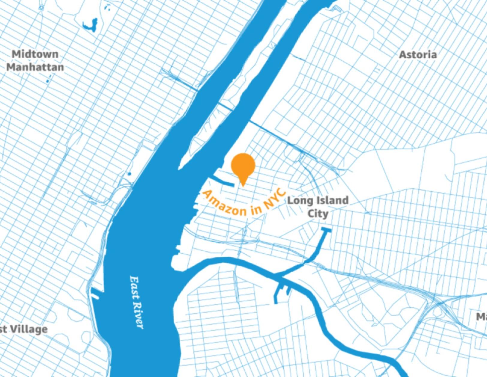 Techmeme: Amazon selects New York City and Arlington
