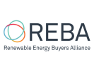 REBA: Renewable Energy Buyers Alliance logo on a white background.