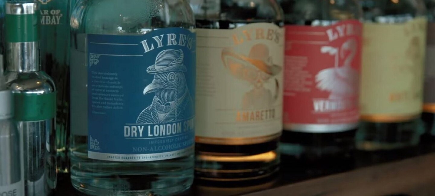Lyre's Non-Alcoholic Spirits on a shelf