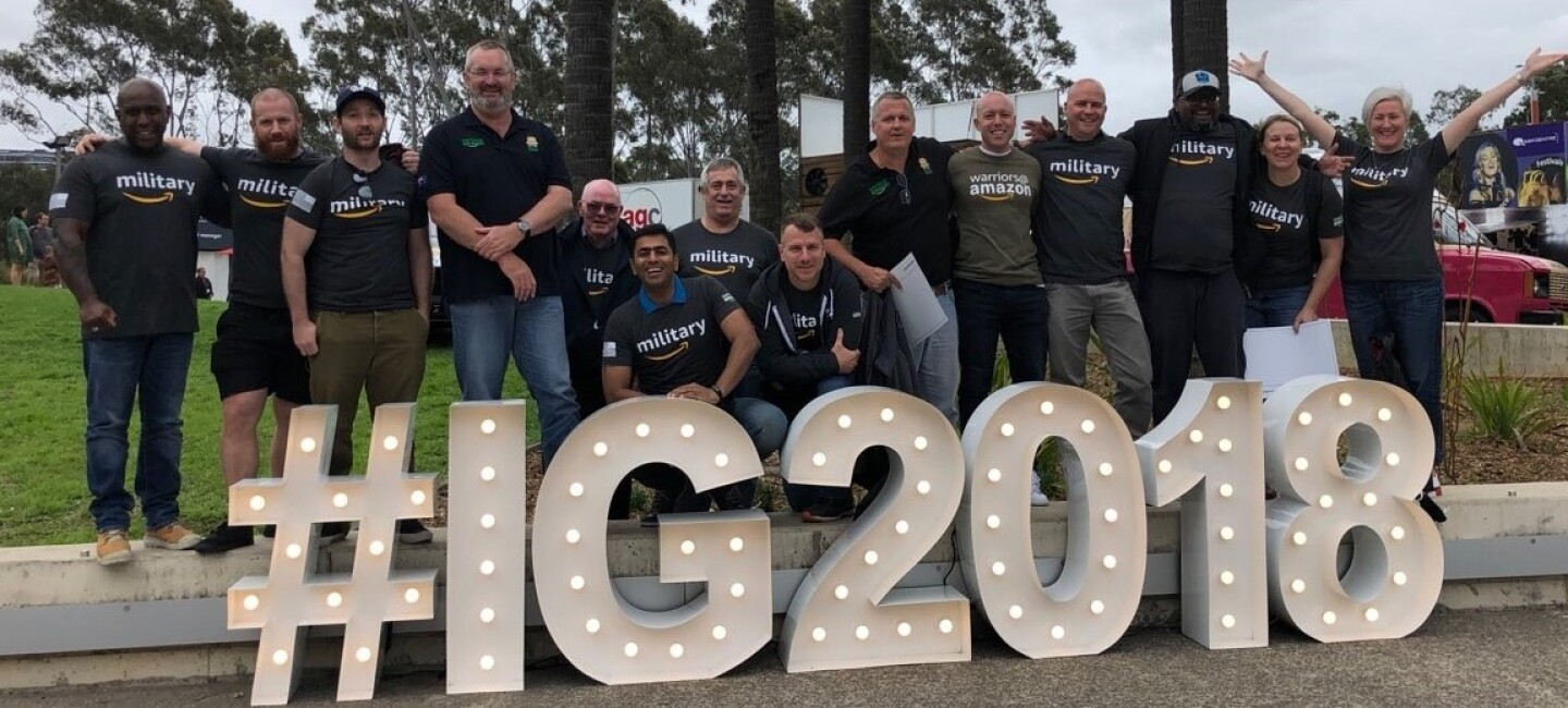 Amazon Military veterans at Invictus Games Sydney 2018.
