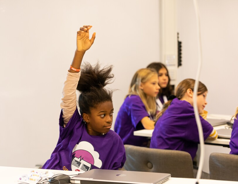 Girls tech day in Sweden by AWS.