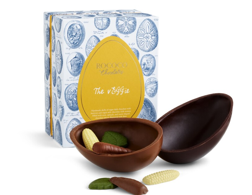 The vEGGie Easter Egg Rococo Chocolates