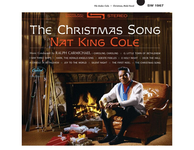 "Album cover for ""The Christmas Song"" by Nat King Cole"
