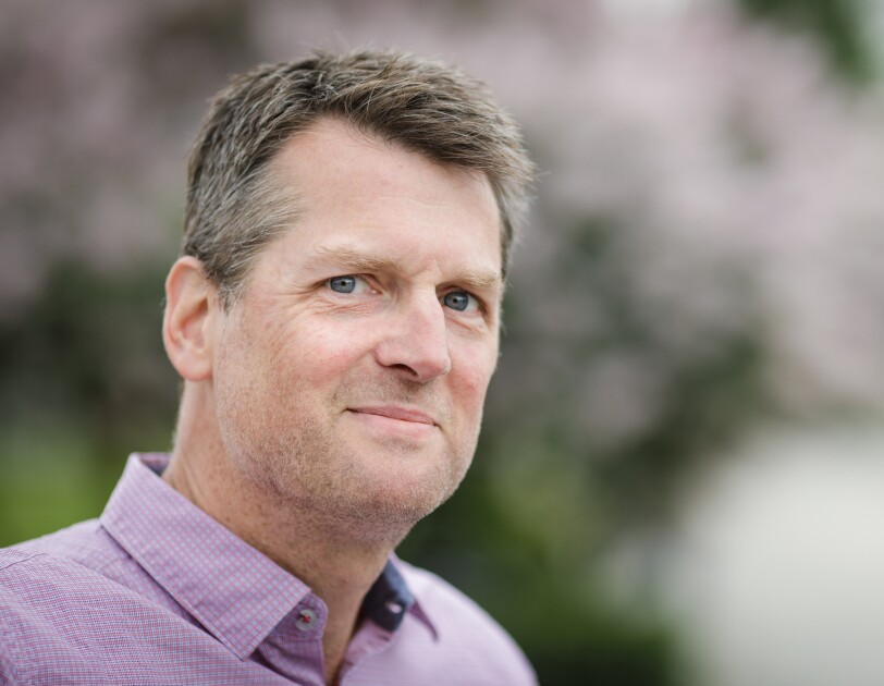 Portrait of Neal Thompson, director of the Amazon Literary Partnership.