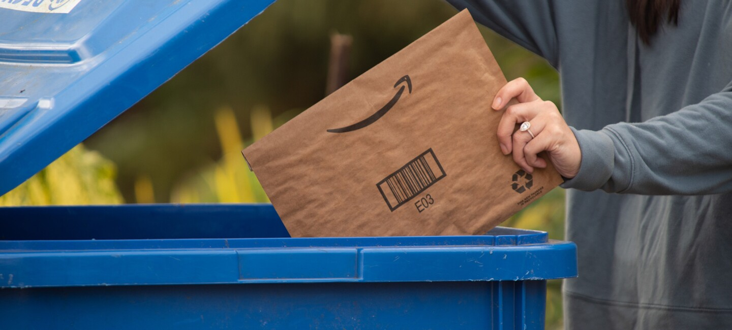 Amazon's efforts to recycle, reuse, and repurpose materials