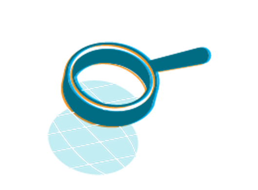 An illustration of a magnifying glass.