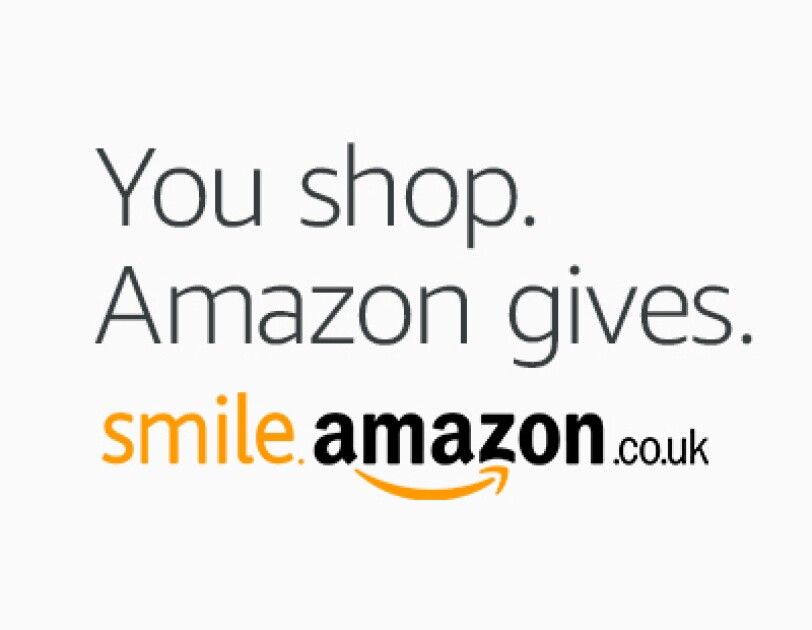 AmazonSmile information next to charity partner logos