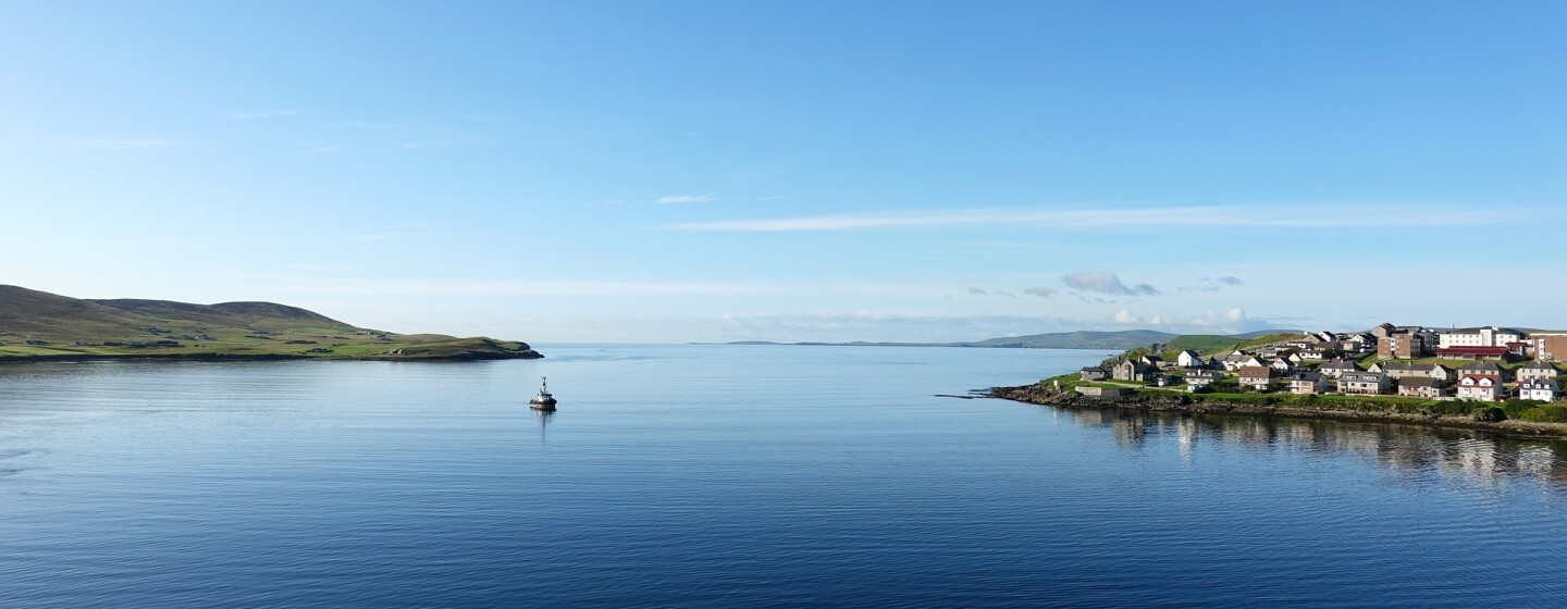Scenery of the Shetland Islands