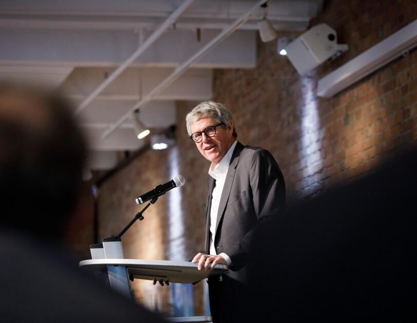 Prof. Dr. Andreas Schlüter, Stifterverband Generalsekretär, bei der digital.engagiert Preisverleihung.