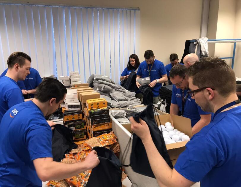 Amazon Web Services volunteers