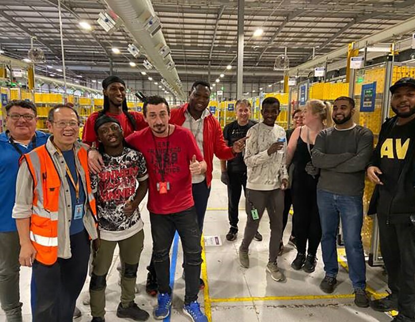 Amazon associates at Rugely, UK