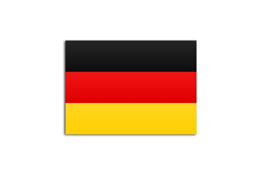 Flat flag of Germany on a white background