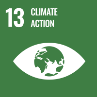 "UN SDG #13 reads ""Climate Action"" and features an icon of an eye with earth as its iris."