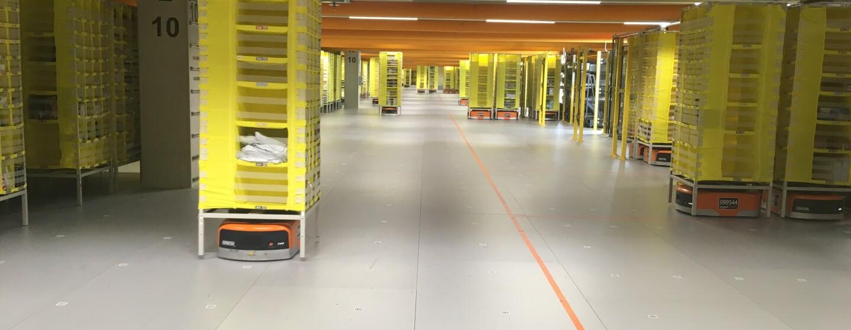 Robotikhalle bei Amazon