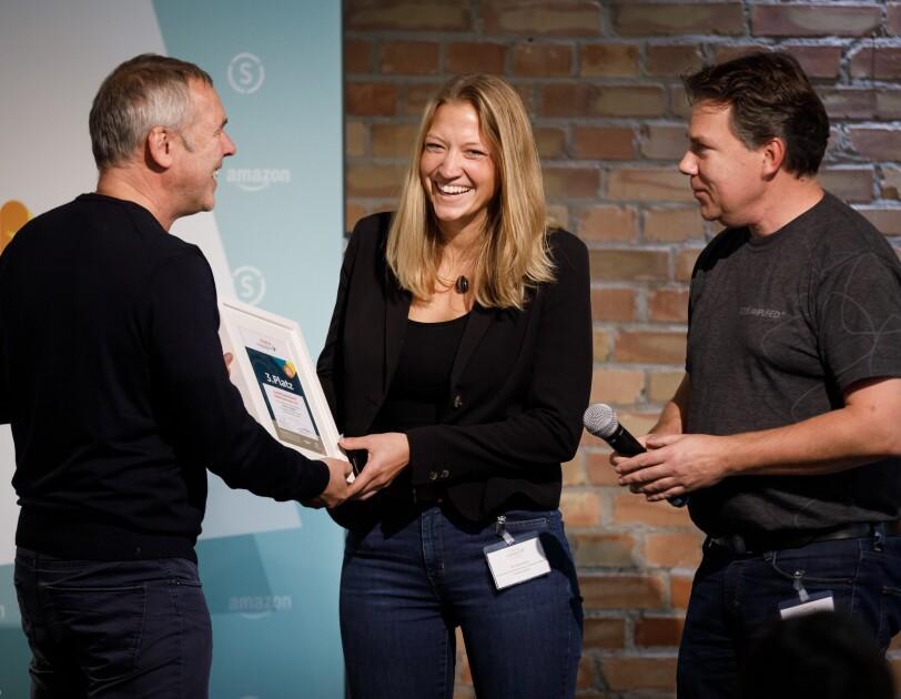 Preisverleihung digital.engagiert: LandesSportBund Niedersachsen e.V. wird mit dem dritten Platz ausgezeichnet.