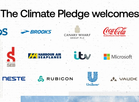 Atos, Brooks, Canary Wharf Group, Coca Cola European Partners, ERM, Groupe SEB France, Harbour Air, ITV, Microsoft, Neste, Rubicon, Unilever e Vaude si uniscono al Climate Pledge