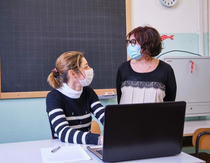 Enza Ingargiola, Vicepreside dell'Istituto Comprensivo F. Morlacchi di San Marco (Perugia) e un'insegnante della scuola