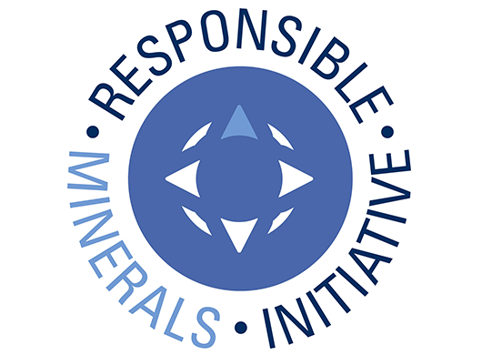 Responsible Minerals Initiative logo on white background.