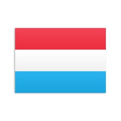 Flat Luxembourg flag on a white background
