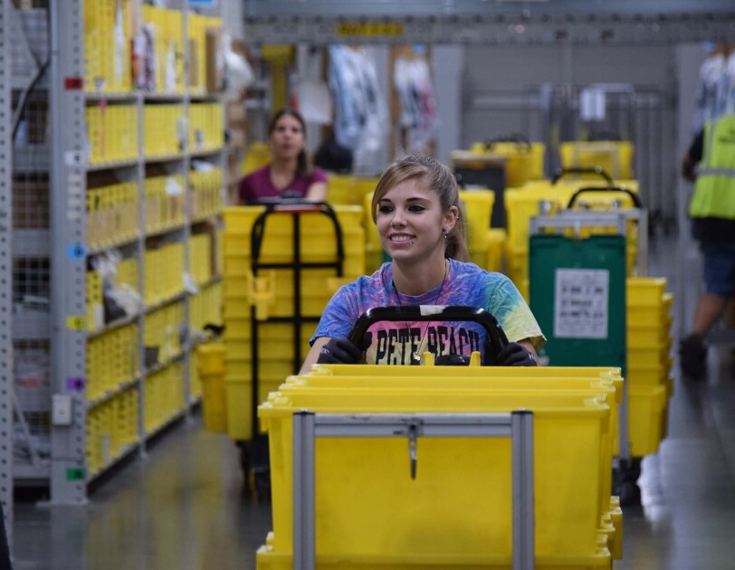 Amazon associates at Jeffersonville, IN fulfillment center