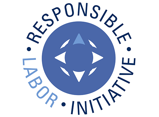 The Responsible Labor Initiative logo on a white background.