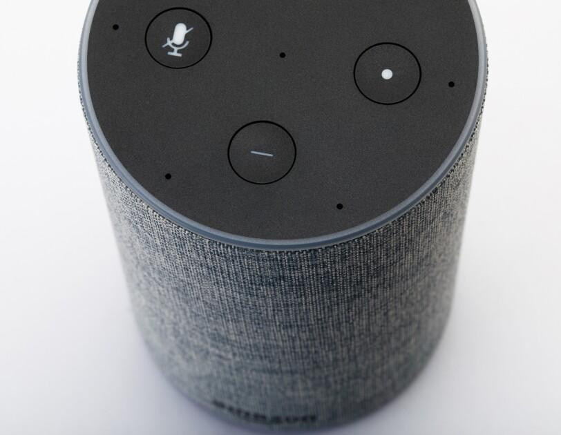 Volume controls for a grey Amazon Echo