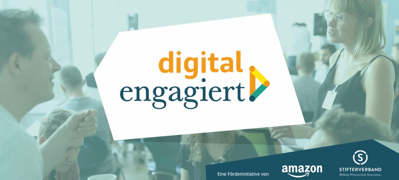 Ein Poster mit dem Logo von digital engagiert